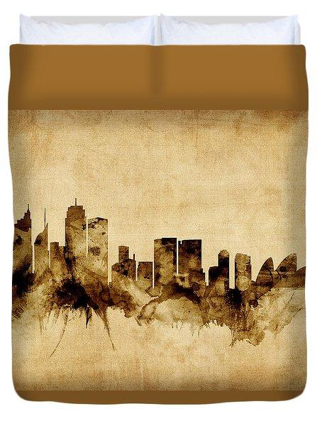 Sydney Australia Skyline Duvet Cover by Michael Tompsett