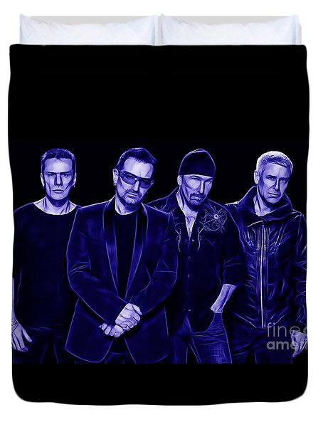 U2 Collection Duvet Cover by Marvin Blaine