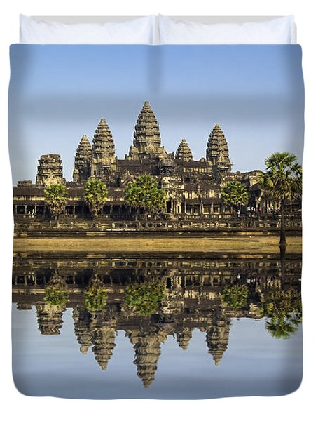 Angkor wat Duvet Cover by MotHaiBaPhoto Prints