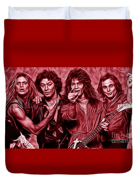 Van Halen Collection Duvet Cover by Marvin Blaine