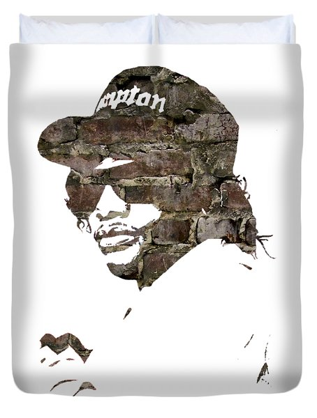 Eazy E Straight Outta Compton Duvet Cover by Marvin Blaine