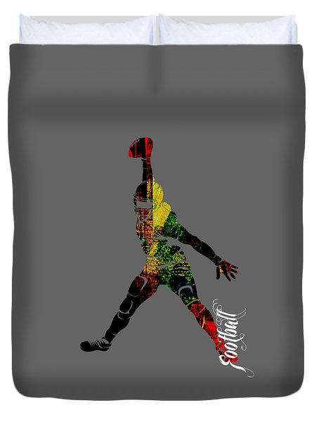 Football Collection Duvet Cover by Marvin Blaine