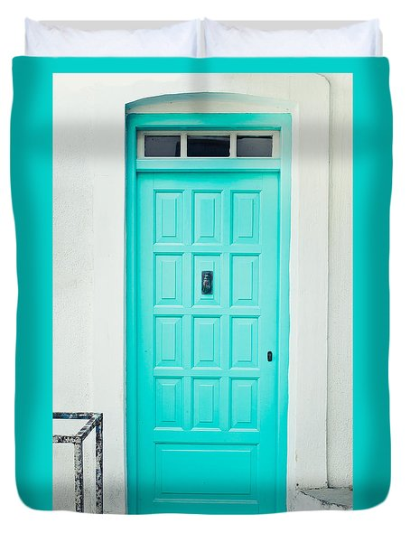 Front Door Duvet Cover by Tom Gowanlock