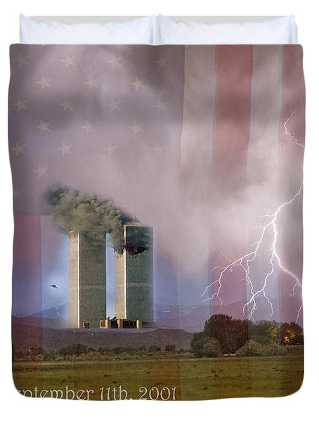 911 We Will Never Forget Duvet Cover by James BO  Insogna