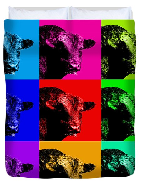 A Bunch of Bull Duvet Cover by Wingsdomain Art and Photography