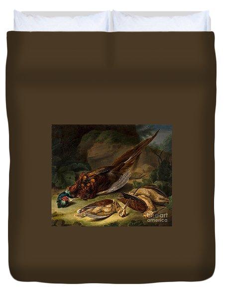 A Dead Pheasant Duvet Cover by MotionAge Designs