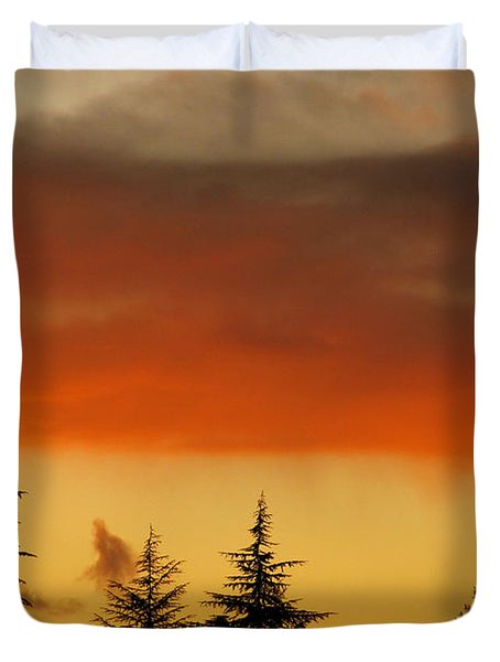 A Distant Rain Duvet Cover by CML Brown