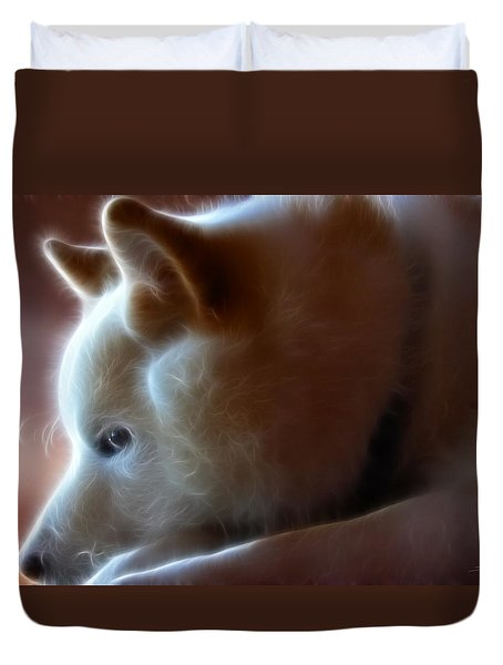 A Dogs Life Duvet Cover by Stuart Turnbull