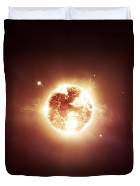 A Dying Star Which Will Soon Give New Duvet Cover by Tomasz Dabrowski