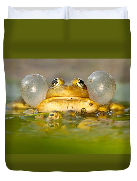 A Frog's Life Duvet Cover by Roeselien Raimond