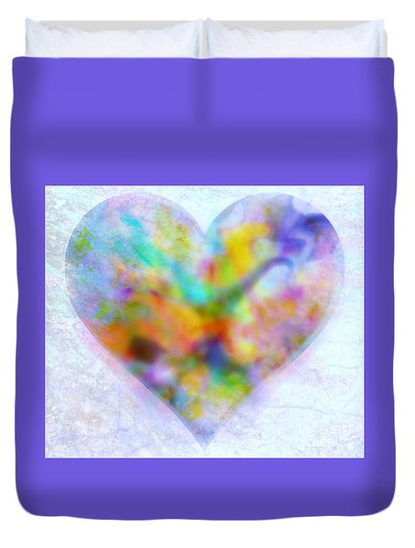 A Gentle Heart Duvet Cover by WBK