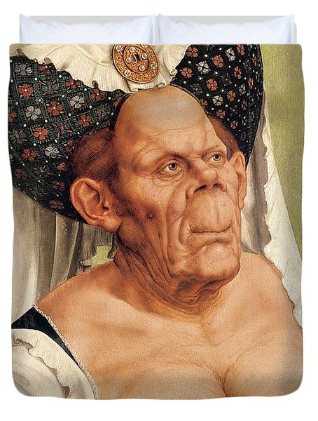 A Grotesque Old Woman Duvet Cover by Quentin Massys