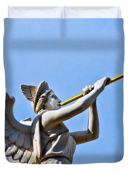 A Herald Sounds Off Duvet Cover by Christopher Holmes