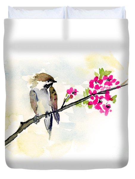 A Little Bother Duvet Cover by Amy Kirkpatrick