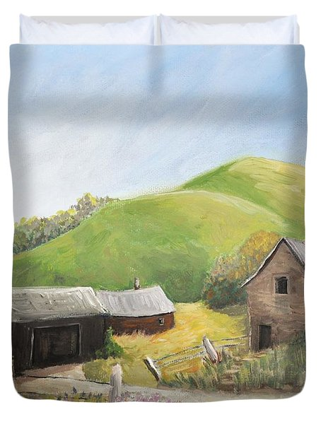 A Little Country Scene Duvet Cover by Reb Frost