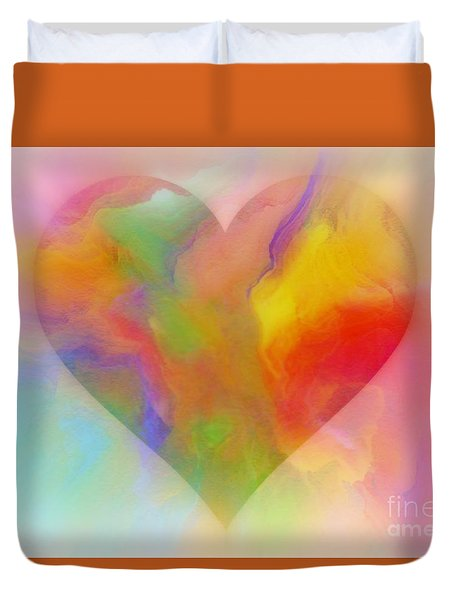 A Moment Of Love Duvet Cover by WBK