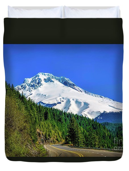 A Mountain Called Hood Duvet Cover by Jon Burch Photography