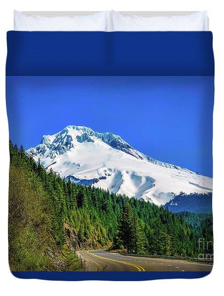 A Mountain Called Hood Duvet Cover by Jon Burch Photography