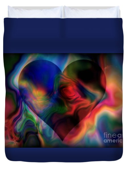 A Passionate Heart Duvet Cover by WBK