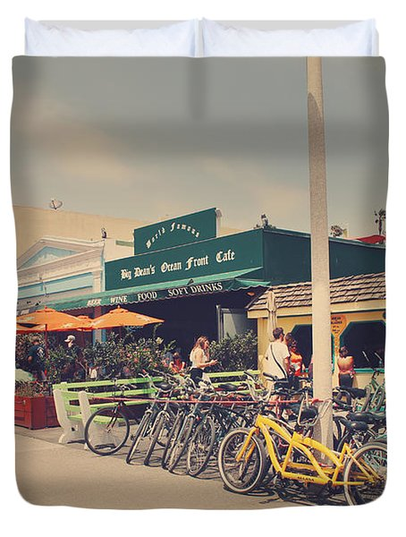 A Perfect Day For A Ride Duvet Cover by Laurie Search