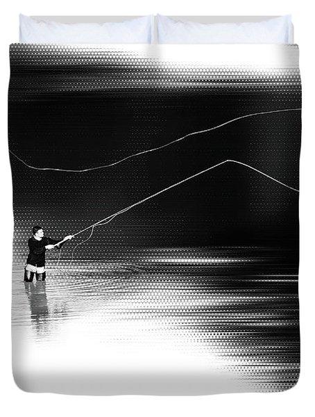A River Runs Through It Duvet Cover by Hannes Cmarits
