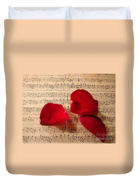 A Romantic Note Duvet Cover by Kathy Bucari