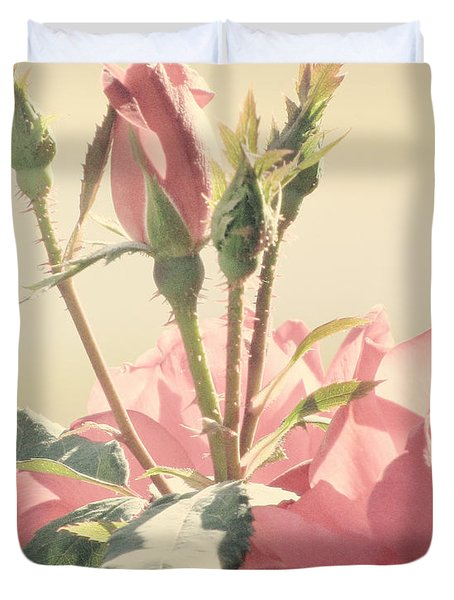 A Soft Sweet Note Duvet Cover by Amy Tyler