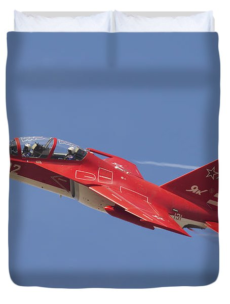A Special Painted Yak-130 Performing Duvet Cover by Daniele Faccioli