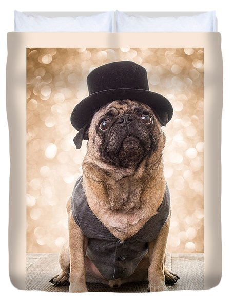 A Star Is Born - Dog Groom Duvet Cover by Edward Fielding