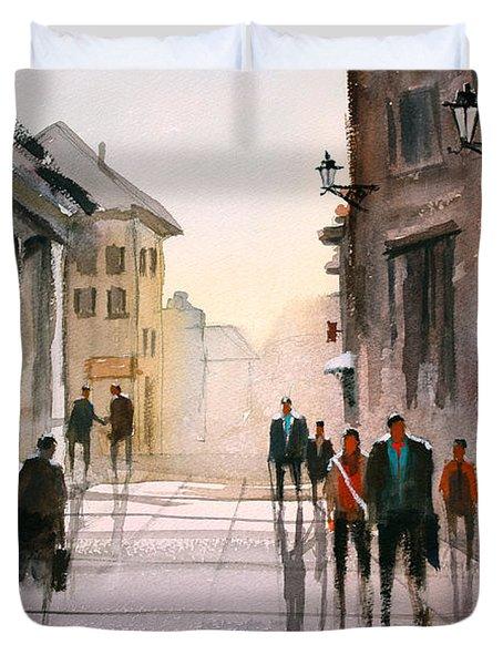 A Stroll In Italy Duvet Cover by Ryan Radke