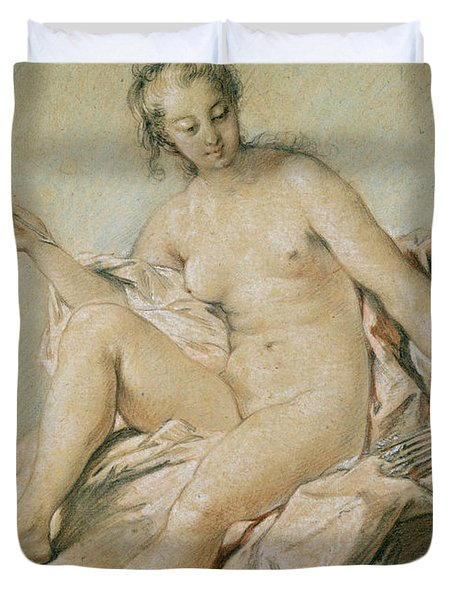 A Study Of Venus Duvet Cover by Francois Boucher