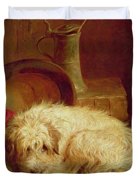 A Terrier Duvet Cover by John Fitz Marshall