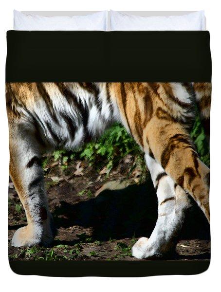 A Tigers Stride Duvet Cover by Karol Livote