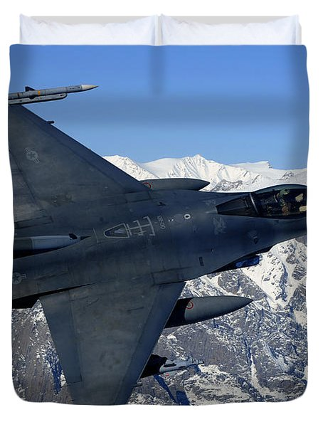 A U.s. Air Force F-16 Fighting Falcon Duvet Cover by Stocktrek Images