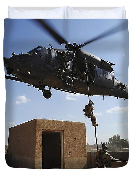 A U.s. Air Force Pararescuemen Fast Duvet Cover by Stocktrek Images