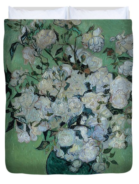 A Vase Of Roses Duvet Cover by Vincent van Gogh