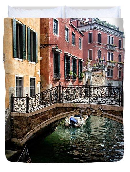 A Venetian Canal Duvet Cover by Michelle Sheppard