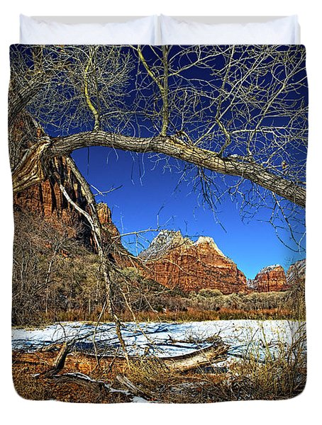 A View In Zion Duvet Cover by Christopher Holmes