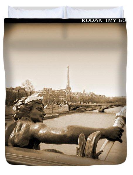 A Walk Through Paris 7 Duvet Cover by Mike McGlothlen
