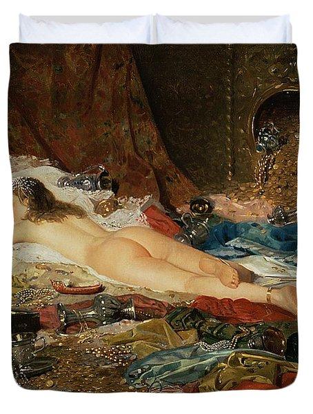 A Wealth Of Treasure Duvet Cover by Della Rocca