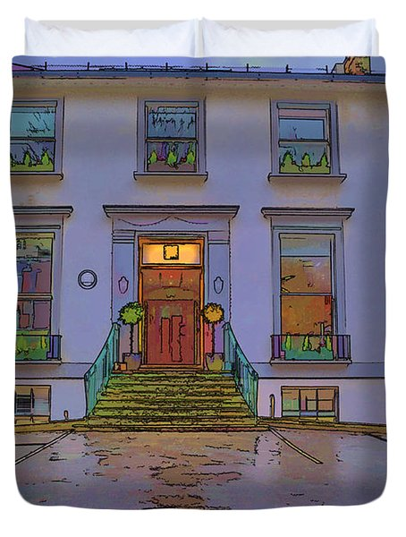 Abbey Road Recording Studios Duvet Cover by Chris Thaxter