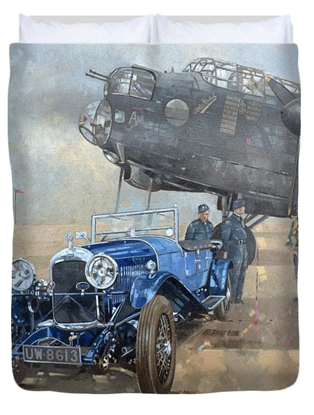 Able Mable And The Blue Lagonda  Duvet Cover by Peter Miller