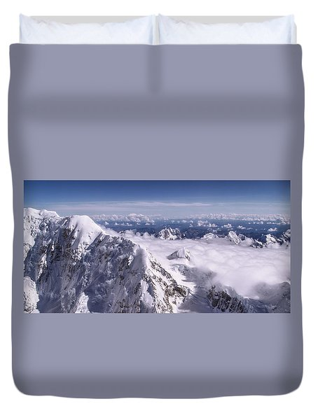Above Denali Duvet Cover by Chad Dutson