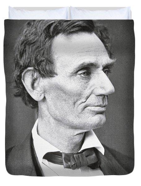 Abraham Lincoln Duvet Cover by Alexander Hesler