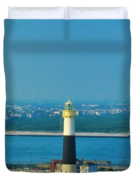Absecon Lighthouse Atlantic City Duvet Cover by Bill Cannon