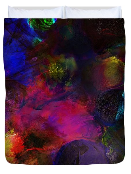 Abstract 042711a Duvet Cover by David Lane