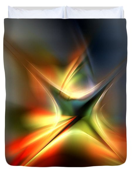 Abstract 060310a Duvet Cover by David Lane