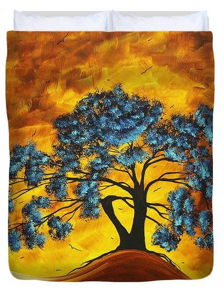 Abstract Art Original Landscape Painting DREAMING IN COLOR by MADARTMADART Duvet Cover by Megan Duncanson