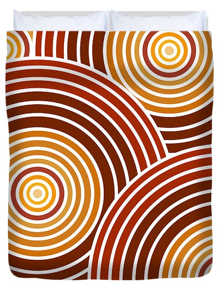Abstract Circles Duvet Cover by Frank Tschakert