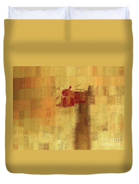 Abstract Floral - 14v2ft Duvet Cover by Variance Collections